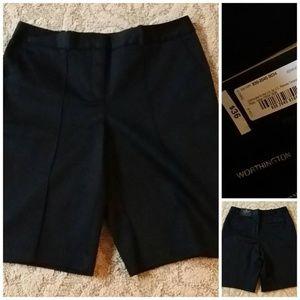 NWT Black Walking Shorts from Worthington